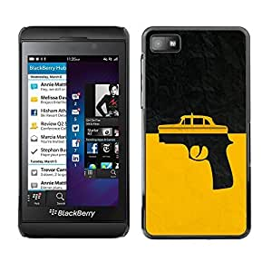 GagaDesign Phone Accessories: Hard Case Cover for Blackberry Z10 - Taxi Gun Taxi Driver