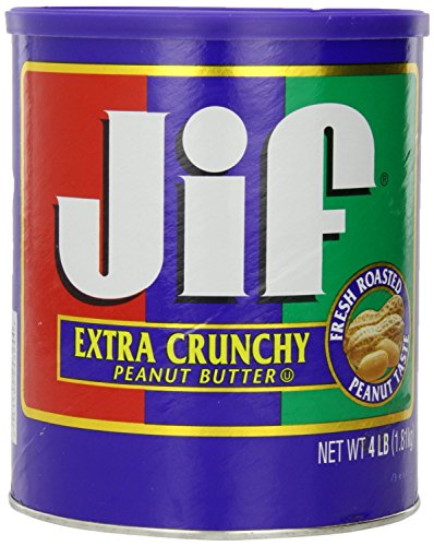Jif Extra Crunchy Peanut Butter, 4 Pound (Pack of 1)