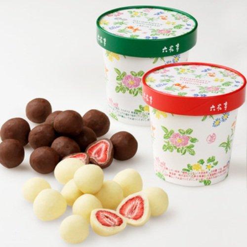 Rokkatei Strawberry White chocolate & chocolate set by Rokkatei