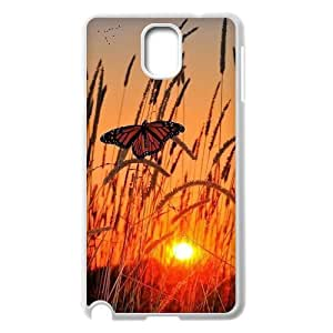 Butterfly in Glowing Sunset Custom Case for Samsung Galaxy Note 3 N9000, Personalized Butterfly in Glowing Sunset Case