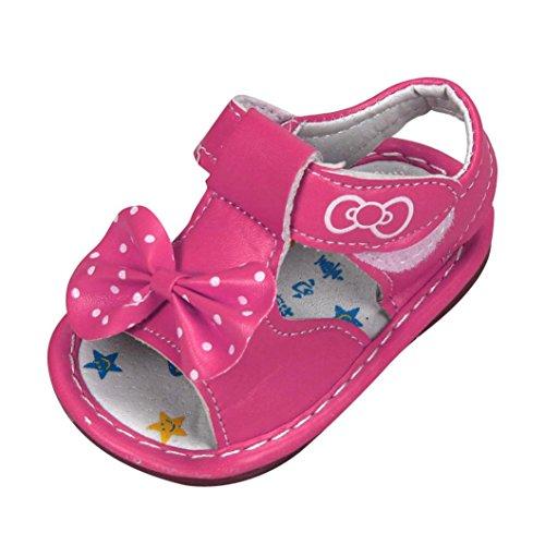 Tefamore Zapatos Sandalias de bebé impresas Nuevo Bowknot Suela Suave Niño Girls rosa caliente
