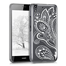 kwmobile Crystal Case for Huawei Y6 (2015) with Design paisley flowers - transparent Protection Case Cover clear in white transparent