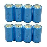 D Size 3.6V Lithium-SOCL2 Battery ER34615 Capacity 19000mAh Count :Pcs (8)