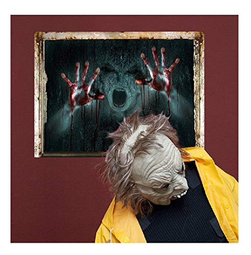 4560cm Halloween Decor 3D Removable Scary Bloody Broken
