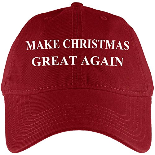 Make Christmas Great Again Hat Adjustable Cap Red Standard One Size