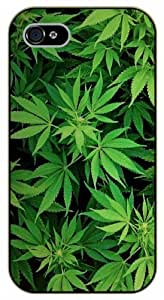 iPhone 5C Weed leaves - black plastic case / Nature, Animals, Places Series, high, pot