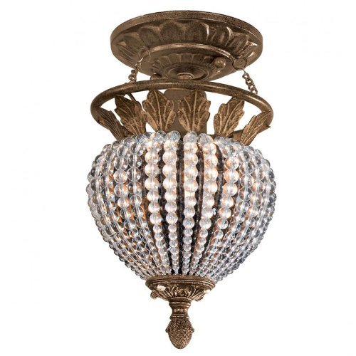 Crystorama Lighting 6720-WP Semi Flush M - Weathered Patina Crystal Beads Shopping Results