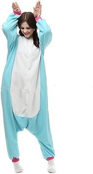 misslight Unicornio Pijamas Animal Ropa de Dormir Cosplay Disfraces Pijamas para Adulto Niños Juguetes y Juegos (M, Blue)