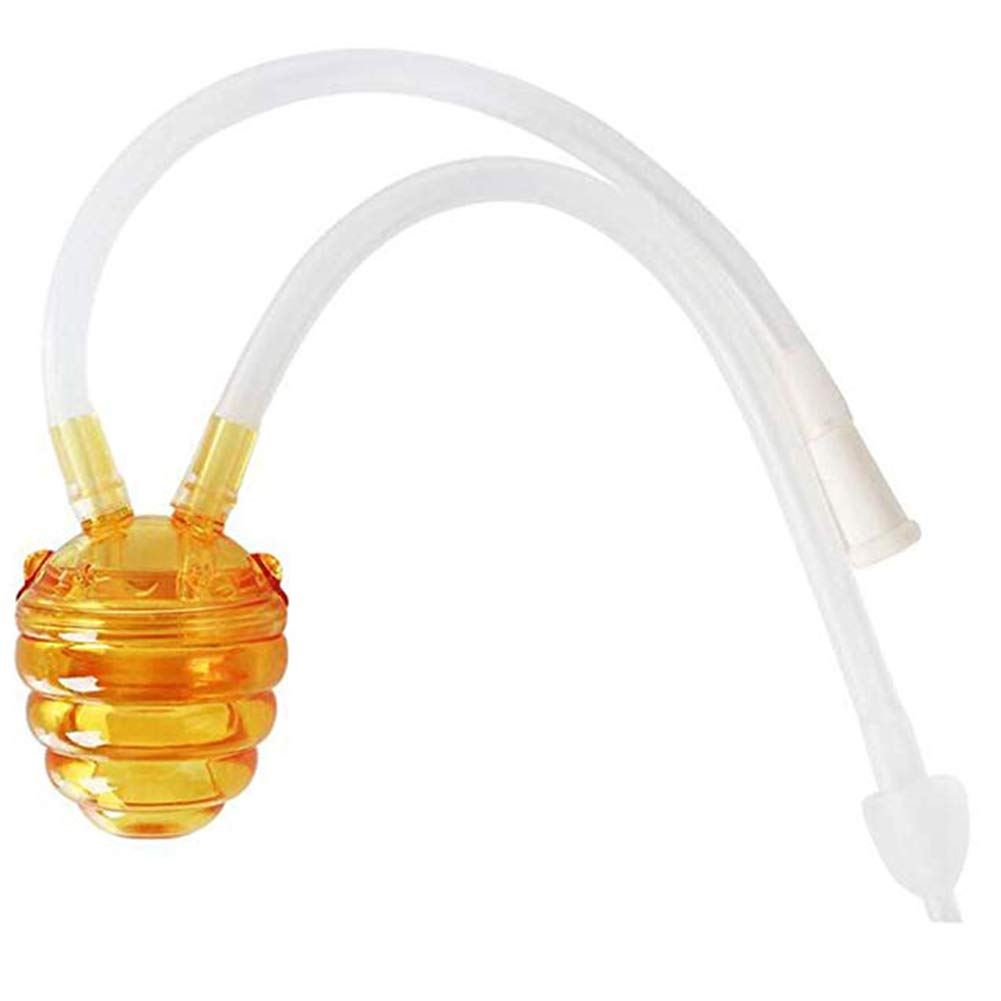 Baby Nasal Aspirator - Snot Sucker for Newborns Infants with Silicone Nasal Tip Oral Suction Hygienic and Safe by JXFS