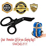 MeanHoo EDC Heavy Duty Military style Medical First Aid Bandage Trauma EMT/Paramedic Shears/Scissors & Portable hook Knife Hand Tools Finger Holder Multi-functions for Self-Defense Survival Tool