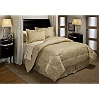 Panda Home Fashions Stencil Bed In A Bag Set, Taupe, Full