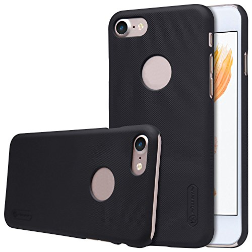 - For iPhone 7 Case, Nillkin Frosted Shield Hard Case Back Cover [with Screen Protector] for iPhone 7 (Frosted Black)