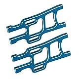 (US) Mxfans 2 PCS Aluminium Alloy 108019 Blue Front Lower Suspension Arm for HSP 94108 RC1:10 Car