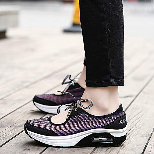 Zapatos Mujer Sneakers Transpirable Sneaker Morado Fitness Plataforma Mesh Adelgazar Aitaobao Caminar Cuña Deporte HtdwPRq