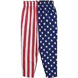 USA Flag Pants | American Patriot Roundhouse Kick of Freedom Heavy Woven Pants