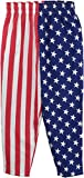 USA Flag Pants | American Patriot Roundhouse Kick of Freedom Heavy Woven Pants-S/M