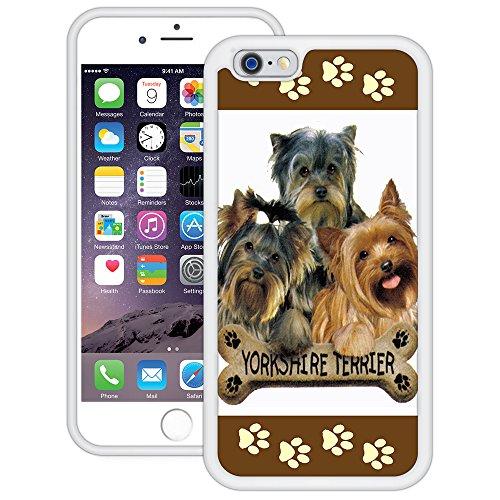 Yorkies | Handgefertigt | iPhone 6 6s (4,7') | Weiß TPU Hülle