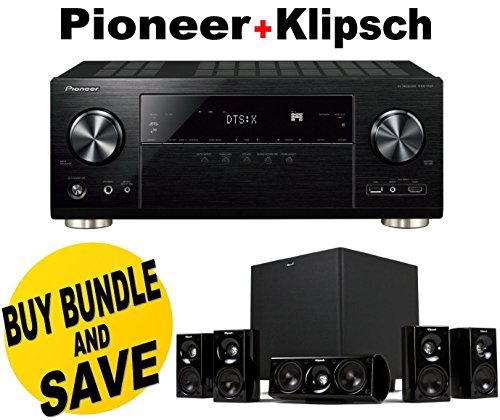 Pioneer VSX-1131 7.2-Channel AV Receiver with MCACC built-in Bluetooth and Wi-Fi + Klipsch HDT-600 Home Theater System Bundle