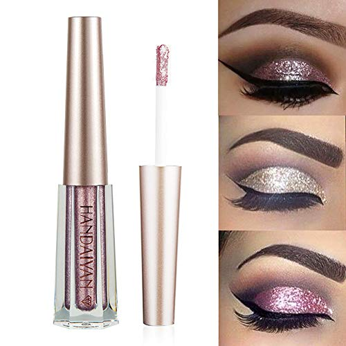 GL-Turelifes Diamond Glitter Liquid Eyeshadow & Eyeliner Pen Starry Sequins Mermaid Eye Shadow Long Lasting Shiny and Pigmented Waterproof Sparkling &Shimmer Eyes Makeup