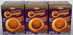 Terry's Toffee Crunch Chocolate Orange (3 Individually Wrapped Oranges Each Weighing 6.17oz)