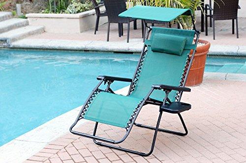 Jeco Gc7 Oversized Zero Gravity Chair With Sunshade And