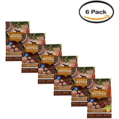 Rachael Ray Nutrish Pack of 6 Natural Dry Dog Food, Turkey, Brown Rice & Venison Recipe, 5.5 lbs