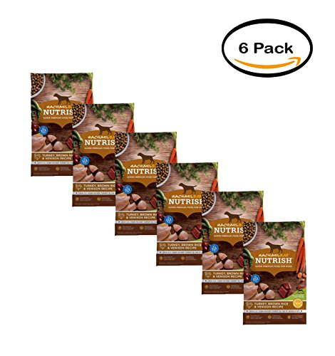PACK OF 6 - Rachael Ray Nutrish Natural Dry Dog Food, Turkey