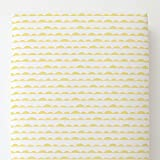 Carousel Designs Banana Yellow Half Moon Toddler Bed Sheet Fitted