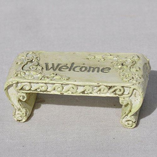 Darice Garden Miniature Welcome Bench