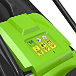 Greenworks Tools Battery Mower G24LM33 (Li-Ion 24V 33 cm Cutting width Up to 250qm² 30 Litre Grass Catcher Box 3-Fold…
