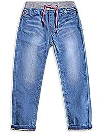 Little Girls' Jeans Kids Clothes Drawstring Waistband Denim Pants G119
