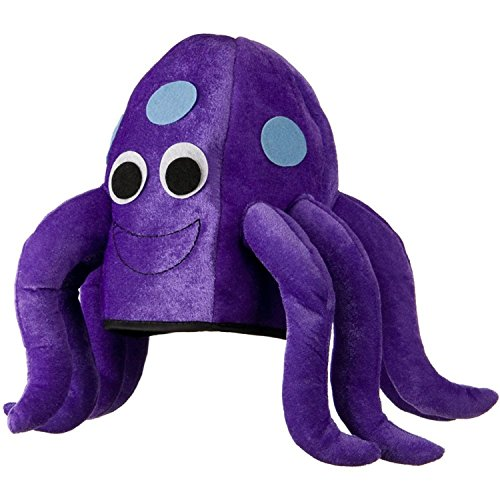 Octopus Felt Novelty Hat, One Size fits most (Sea Creature Costumes)