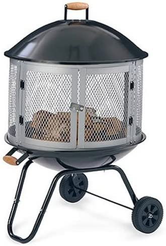 Well Traveled Living 01471 Bonfire Fire Pit With Wheels Porcelain Steel 28 In Quantity 1 Amazon Ca Home Kitchen