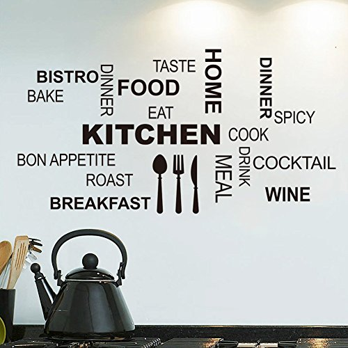 Kitchen Cook Kitchen Waterproof Wall Sticker Decal - 3