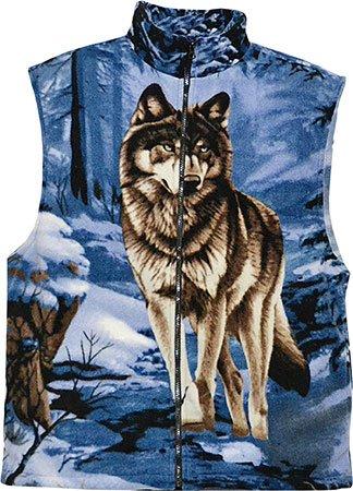 """Fleeceweste """"Winter Wolf"""" für Sie & Ihn blau/braun Größe 5 (XXL)"""