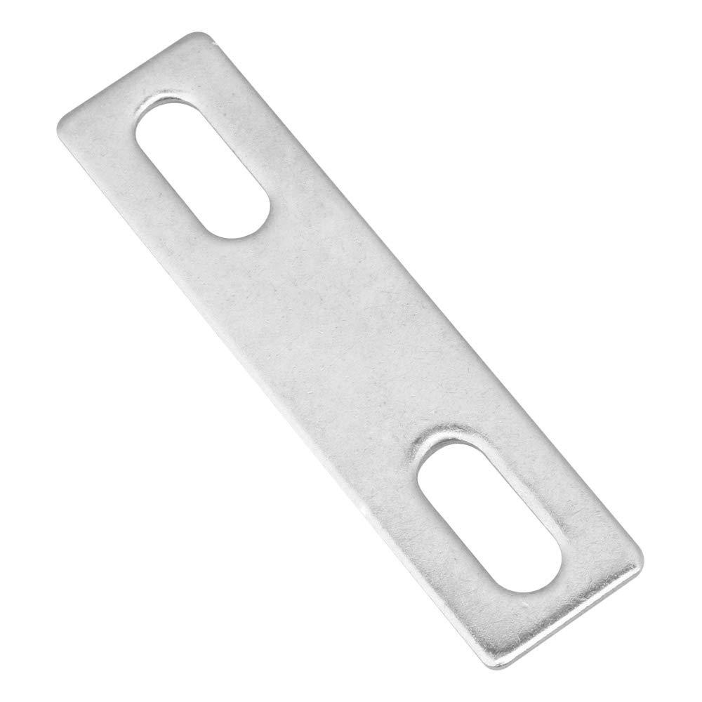 plateado Mxfans 304 Juego de pernos cuadrados de acero inoxidable con placa y cierre de tubo