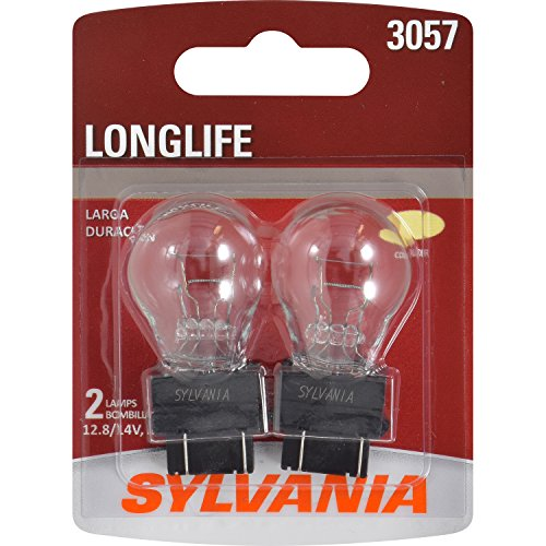 (SYLVANIA - 3057 Long Life Miniature - Bulb, Ideal for Daytime Running Lights (DRL) and Back-Up/Reverse Lights (Contains 2 Bulbs))