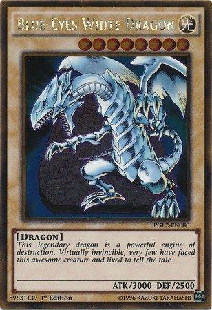 YU-GI-OH! - Blue-Eyes White Dragon (PGL2-EN080) - Premium Gold: Return of The Bling - 1st Edition - Gold Rare