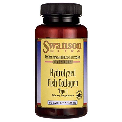 Swanson Hydrolyzed Fish Collagen Type I 400 Milligrams 60 Capsules