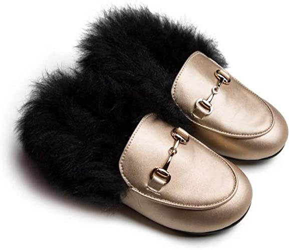 Little Legends Infant Dress Shoes Velour or Leather with Fur Baby Loafers