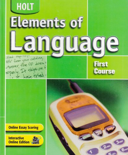 Elements of Language: Student Edition Grade 7 2004