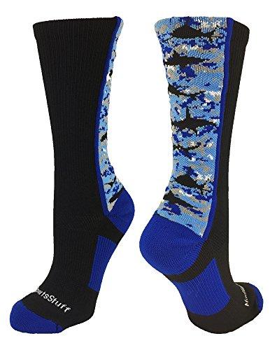 Digital Camo Shark Crew Socks (Black/Blue/White, Small) (Shark Soccer Socks compare prices)