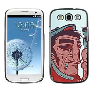 // PHONE CASE GIFT // Duro Estuche protector PC Cáscara Plástico Carcasa Funda Hard Protective Case for Samsung Galaxy S3 / French Artist - Funny Vintage Poster /
