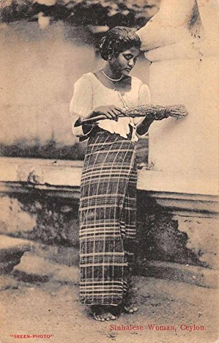 Ceylon Sri Lanka Sinhalese Woman Antique Postcard J71353