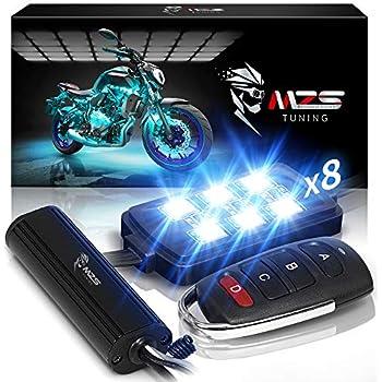 Amazon Com Ambother 8pcs Motorcycle Led Light Kit Strips