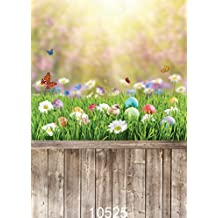 SJOLOON 5x7ft Easter theme Natural with Floor Vinyl Photography Backdrop Customized Photo Background Studio Prop 10525