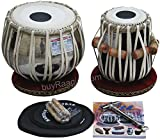 No. 1 Tabla Drum Set by Haridas Vhatkar, In USA, 3.5KG Chromed Copper Bayan, Finest Sheesham Dayan - Tuneable To C Sharp, Padded Bag, Book, Hammer, Cushions & Cover, Tabla Instrument India (PDI-ECH)