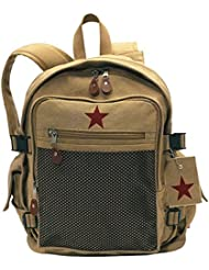 Rothco Vintage Canvas Backpack Ii/Star - Khaki