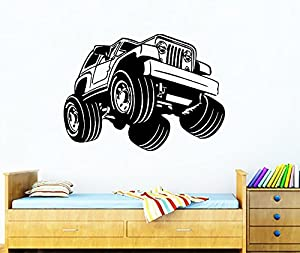Amazoncom Wall Decals For Nursery Cartoon Jeep Decal Vinyl - Wall decals carscars wall decals add photo gallery car wall decals home design ideas