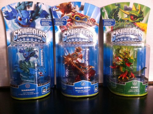 Skylanders Bundle Character Pack: Wham-shell, Camo, Warnado by Activision (Image #1)